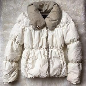 BCBG MAXAZRIA White Puffer Coat